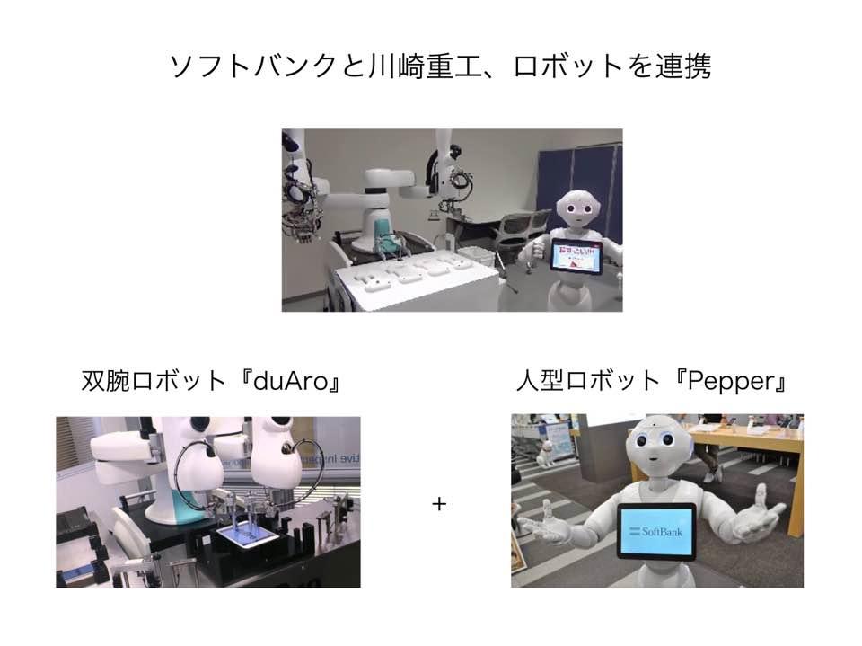 川崎重工とソフトバンクのロボット競業