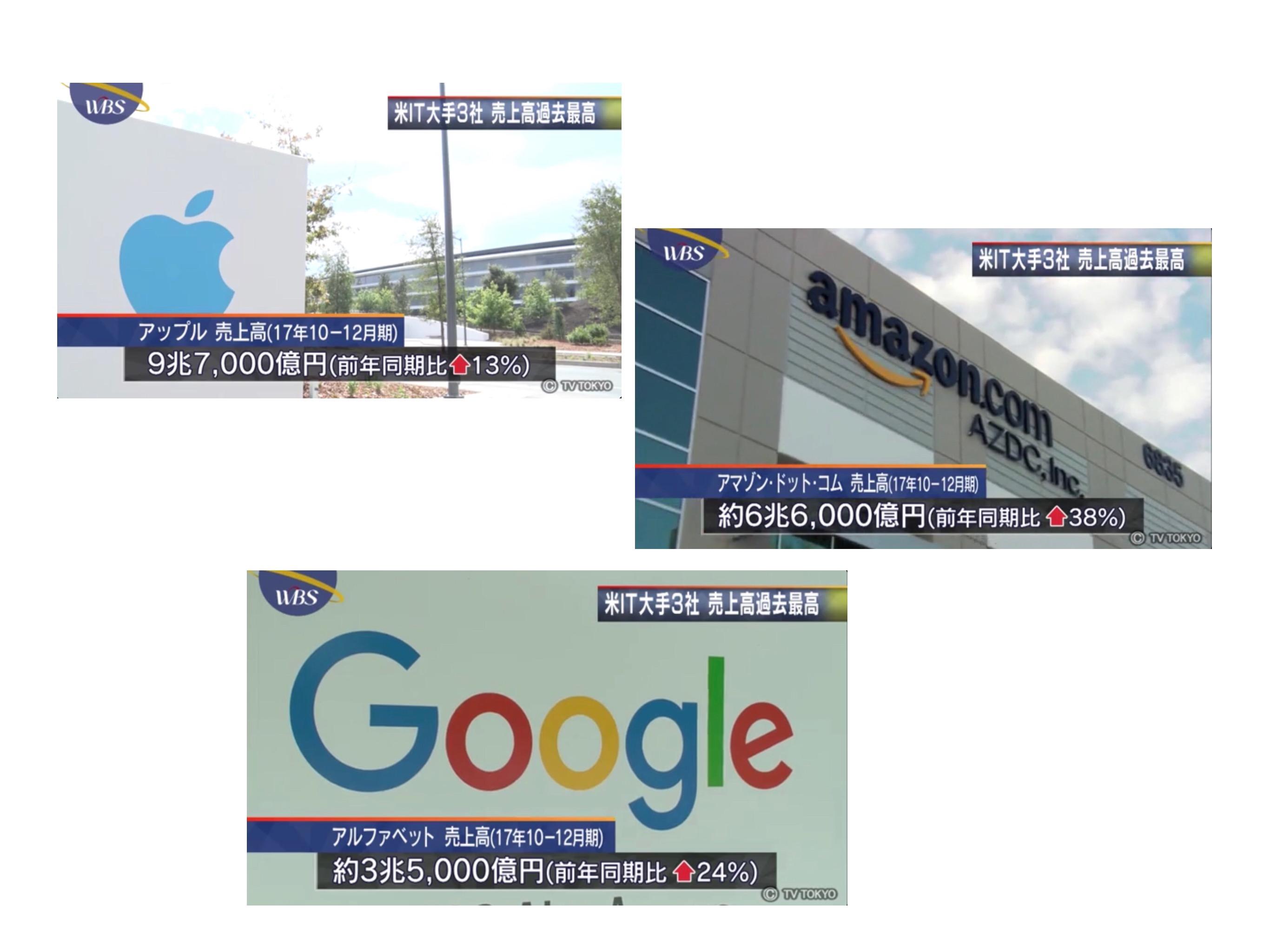 Apple Amazon Google